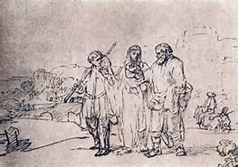 Road to Emmaus, Rembrandt