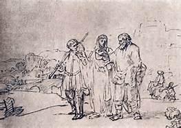 Road to Emmaus, Rembrandt