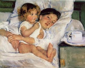 Breakfast in Bed, Mary Cassatt, 1897