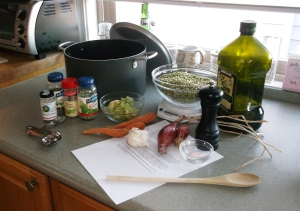 Preparing Split Pea Soup
