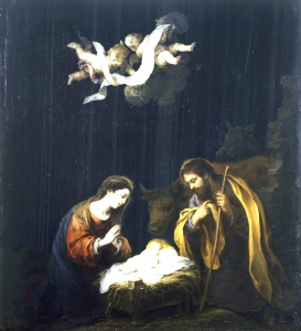 The Nativity, Bartolomé Estaban Murillo, (1617-1682)