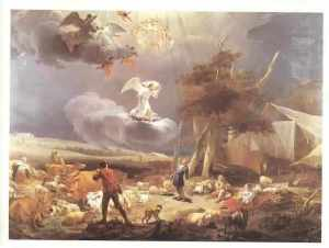 Nicolaes Berchem, Annunciation to the Shepherds, 1656