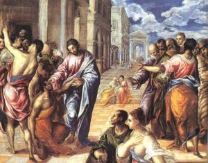 Jesus Healing Blind Bartimaeus El-Greco, 1578