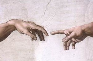 Hands of God and Adam Creation, Michangelo