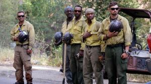 Hotshot Firefighters Pausing to Honor Fallen Firefighters Okanagan Co. WA ABC TV, August 19, 2015