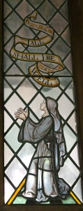 Stained Glass window of Julian of Norwich, Church of St. Julian, Norwich UK