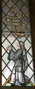 Stained Glass window of Julian of Norwich, Church of St. Julian, Norwich UK