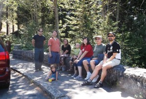 Jewell Family, 2013 at Mt. Rainer John Paul, Mark, Laura, Liam, Shannon, John (the patriarch), Kent, and in front Amelia