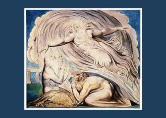 God Speaks to Job out of the whirlwind William Blake, 1757-1827