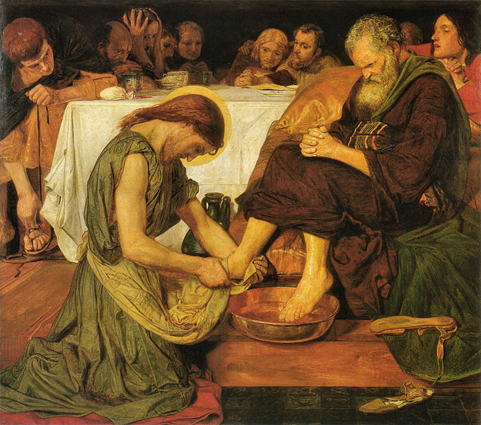 Ford Madox Brown, Jesus_washing_Peter's_feet, 1821-1893